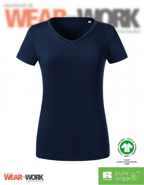 Organic V-Neck T-Shirt Damen