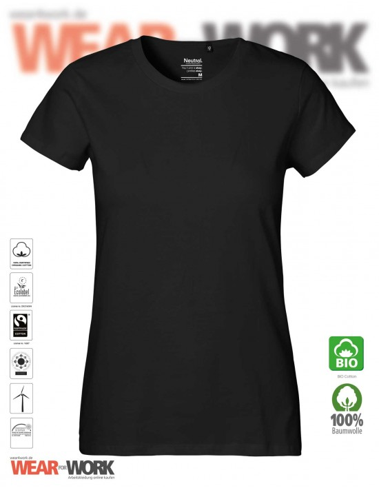Organic Ladies T-Shirt schwarz