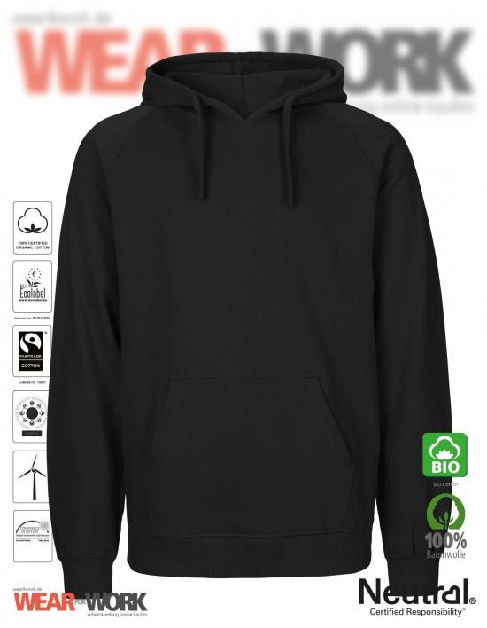 Organic Hooded Sweat schwarz