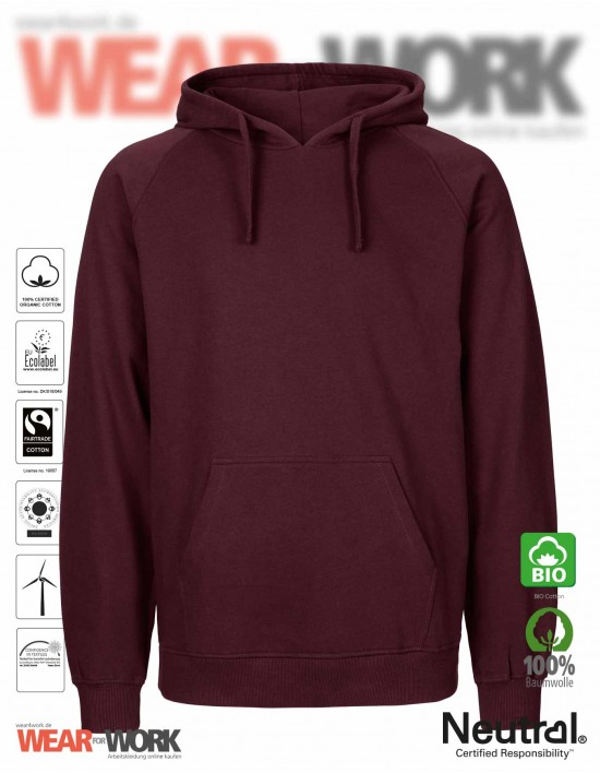 Organic Hooded Sweat bordeaux