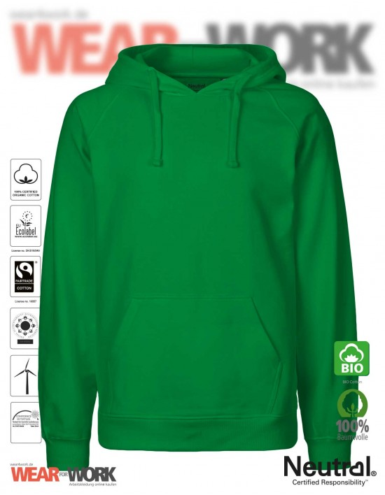 Organic Hooded Sweat grün