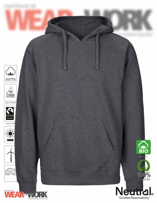 Organic Hooded Sweat dunkelgrau