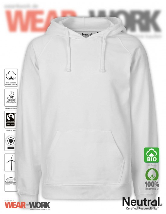 Organic Hooded Sweat weiss