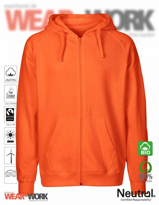 Organic Work Hoodie orange