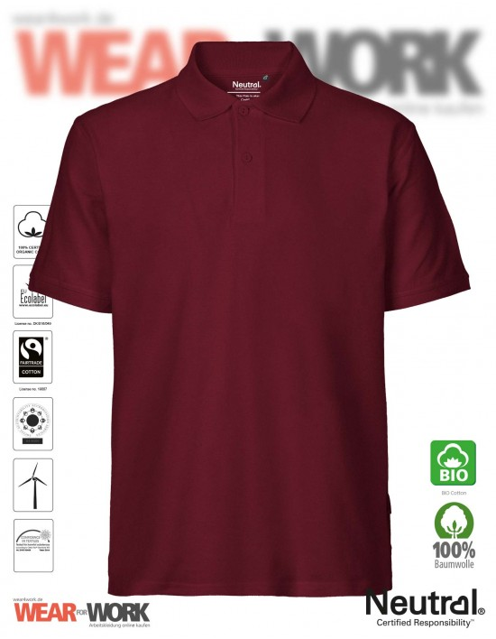 Organic Polo bordeaux