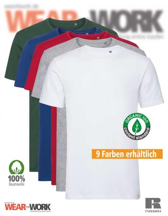 Russell Organic T-Shirt Herren