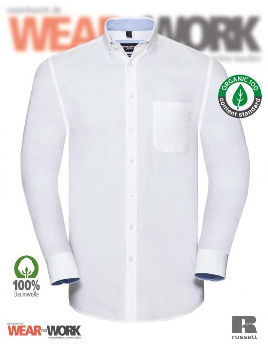 Russell Organic Oxford Hemd weiss