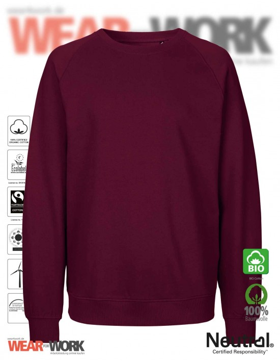 Organic Sweatshirt bordeaux