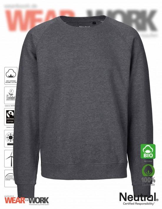 Organic Sweatshirt dunkelgrau