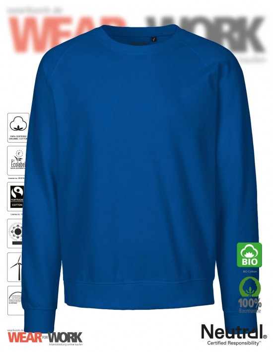 Organic Sweatshirt blau