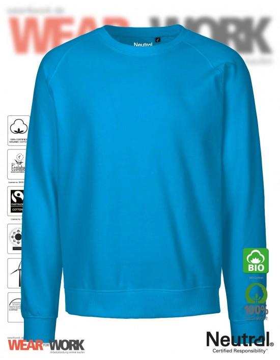 Organic Sweatshirt hellblau