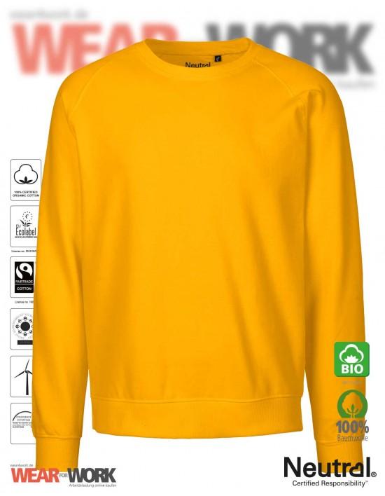 Organic Sweatshirt gelb