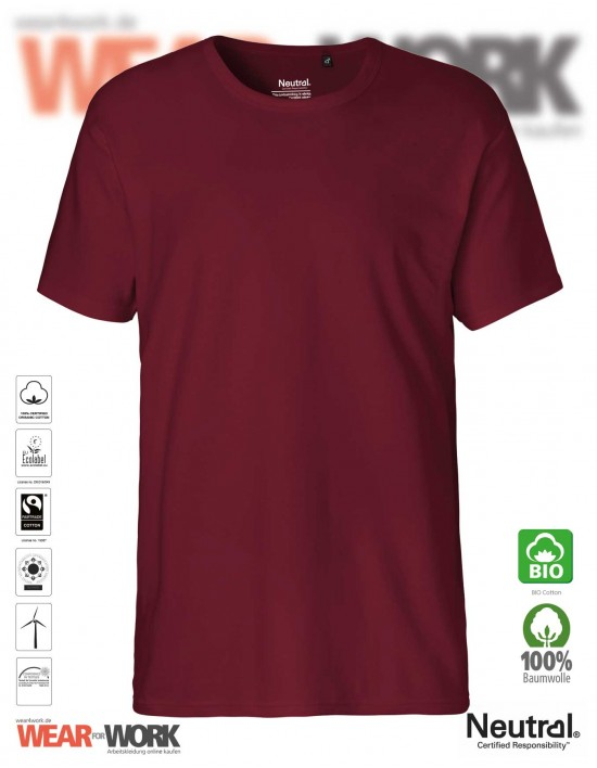 Organic Work T-Shirt bordeaux