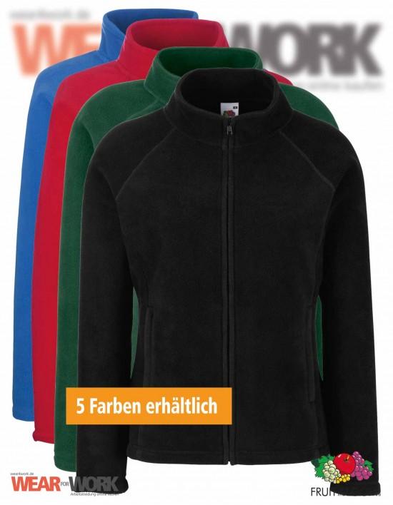 Fleece Jacke Damen Full Zip 62-066-0