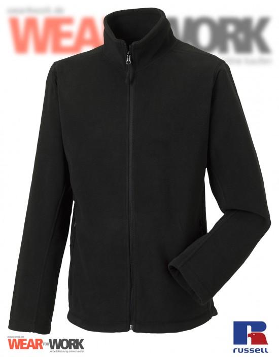 Fleece-Jacke schwarz R-870M Herren