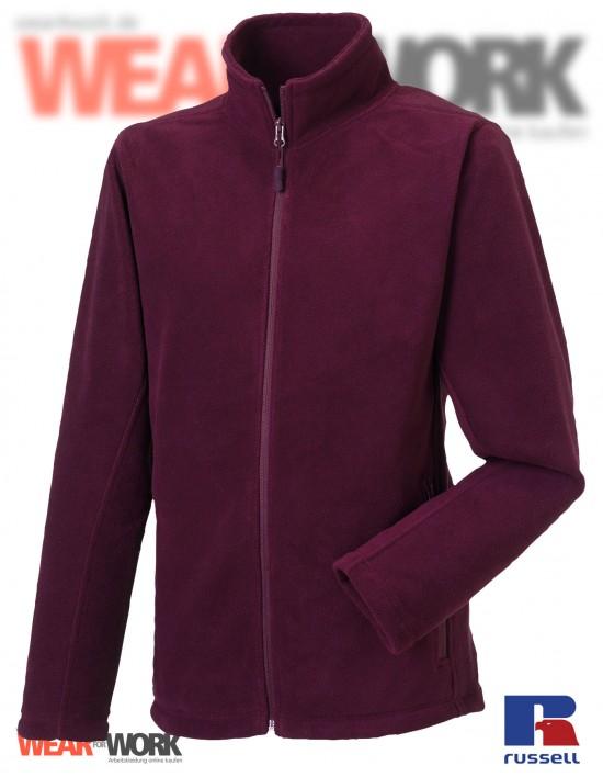 Fleece-Jacke burgund R-870M Herren