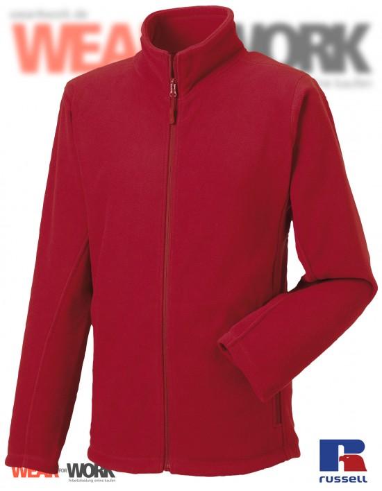 Fleece-Jacke rot R-870M Herren