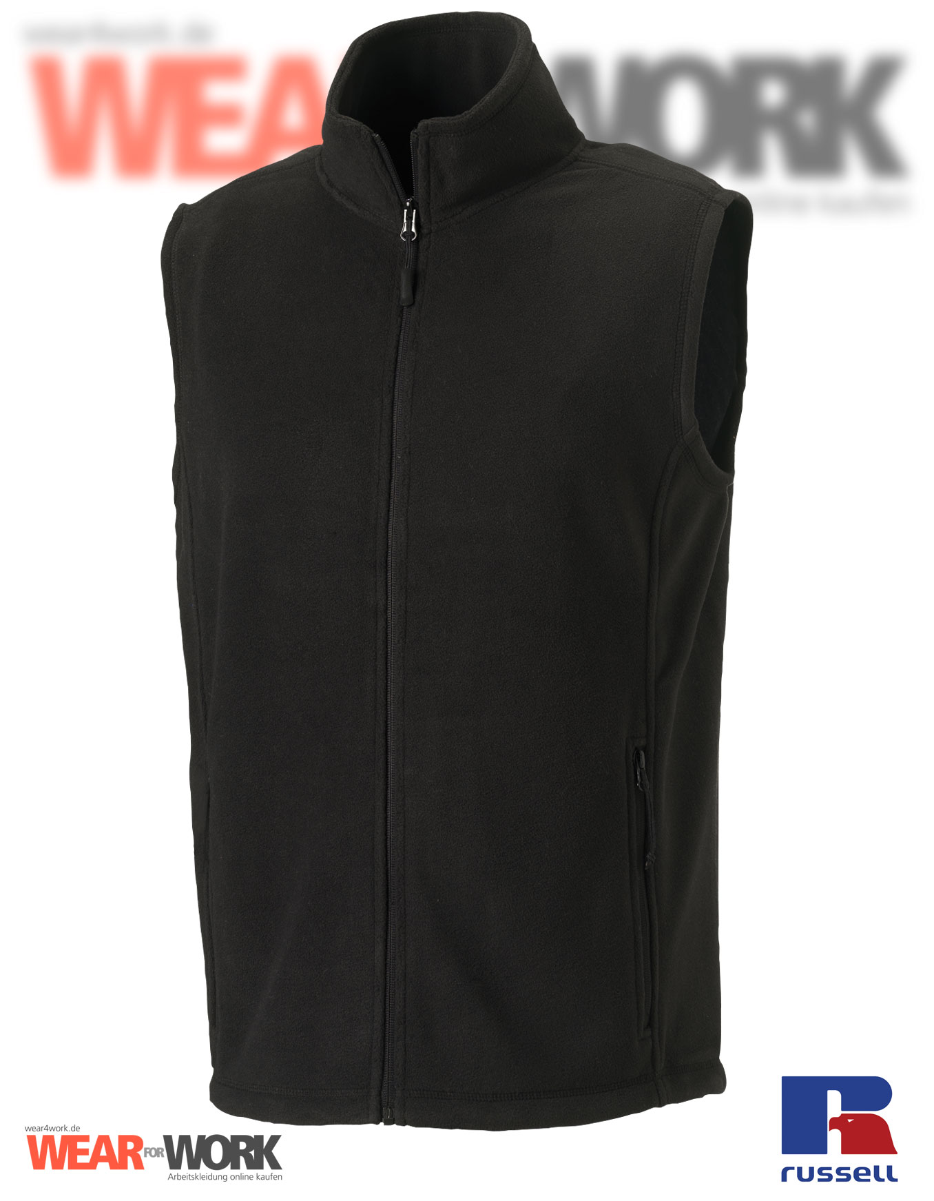 fleece weste gilet schwarz r 872m russell workwear. Black Bedroom Furniture Sets. Home Design Ideas