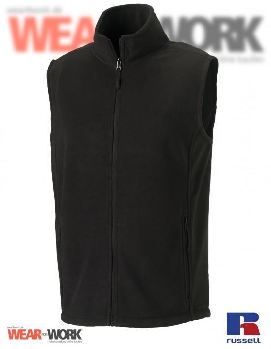 Fleece-Weste schwarz R-872M Herren