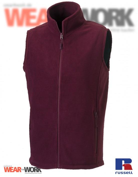 Fleece-Weste burgund R-872M Herren