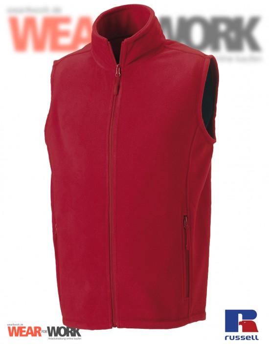 Fleece-Weste rot R-872M Herren