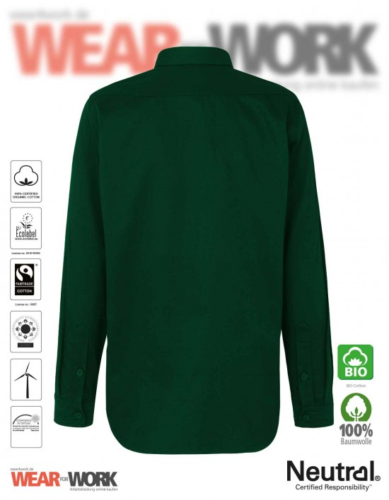 Neutral Bio Hemd grün