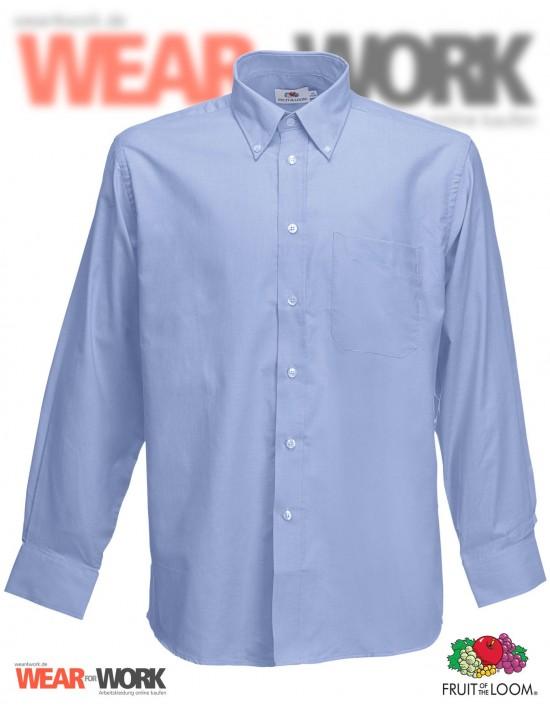 Hemd Oxford blau langarm OX-1