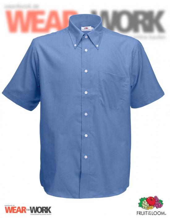 Hemd Oxford blau kurzarm OX-2