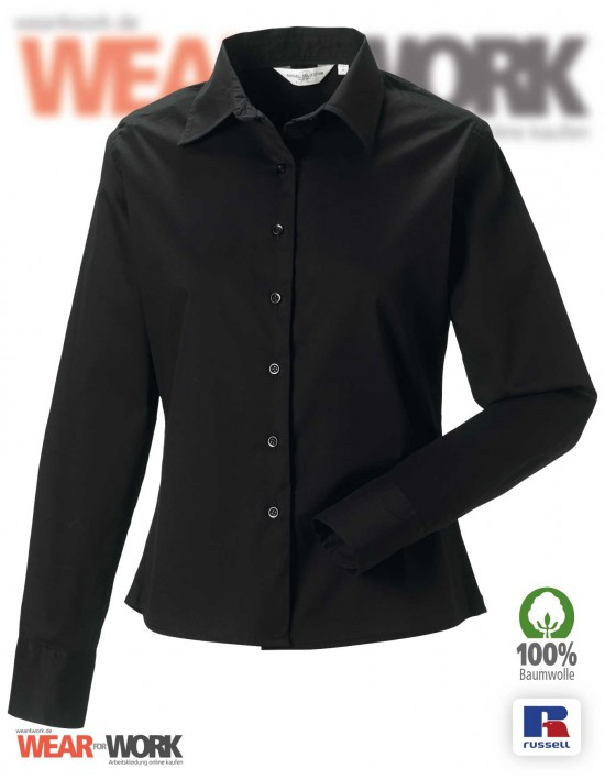 Workwear Bluse R-916F schwarz
