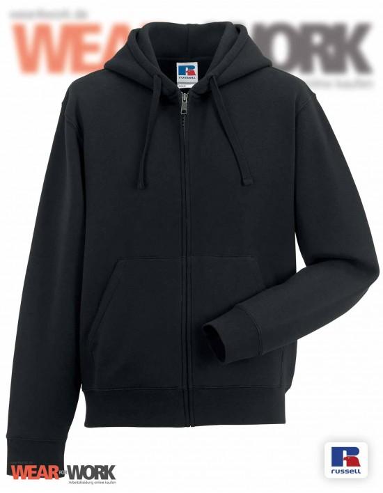 Sweat-Jacke schwarz mit Kapuze