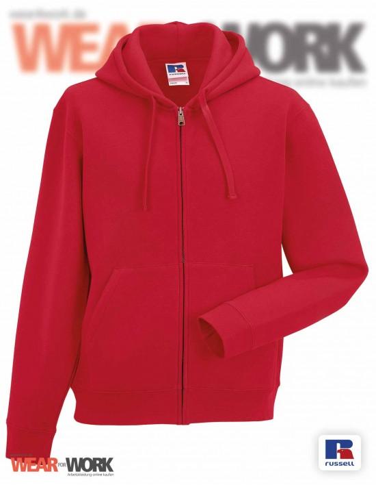 Sweat-Jacke rot mit Kapuze