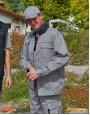 Arbeitsjacke grau/schwarz CC710