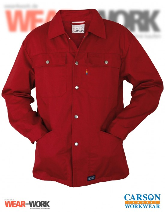 Arbeitsjacke rot CVC 710