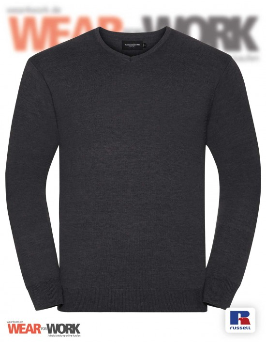 Strickpullover V-Neck grau bei wear4work.de