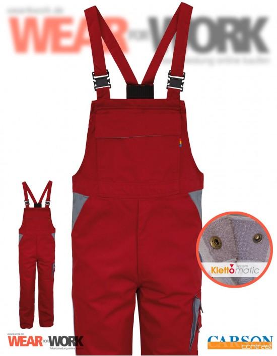 Latzhose rot/grau CC726 bei wear4work.de
