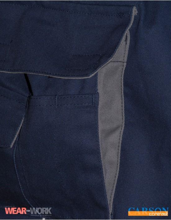 Latzhose deep navy/grau CC726 bei wear4work.de