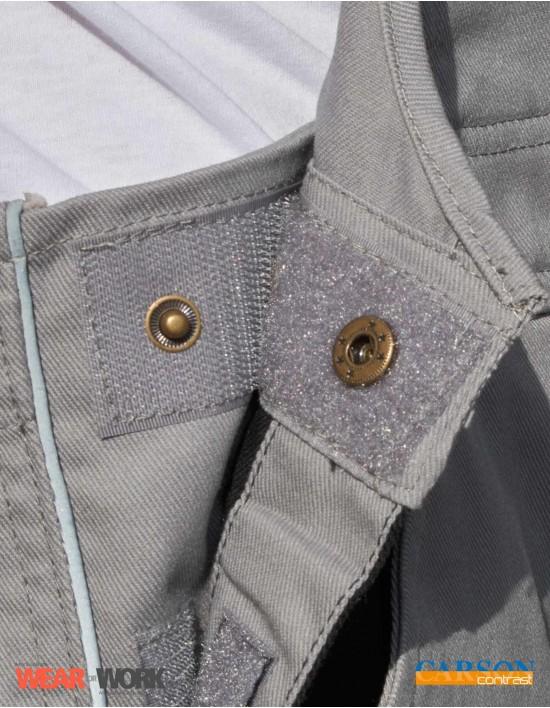 Latzhose grau/schwarz CC726 bei wear4work.de