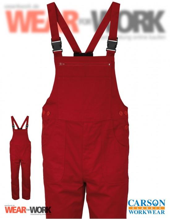 Latzhose rot CVC726 bei wear4work.de