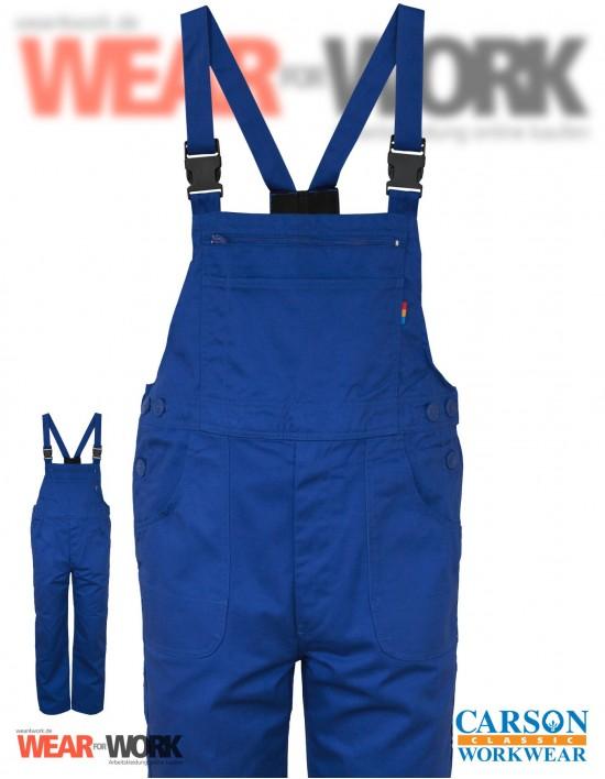 Latzhose blau CVC726 royal bei wear4work.de