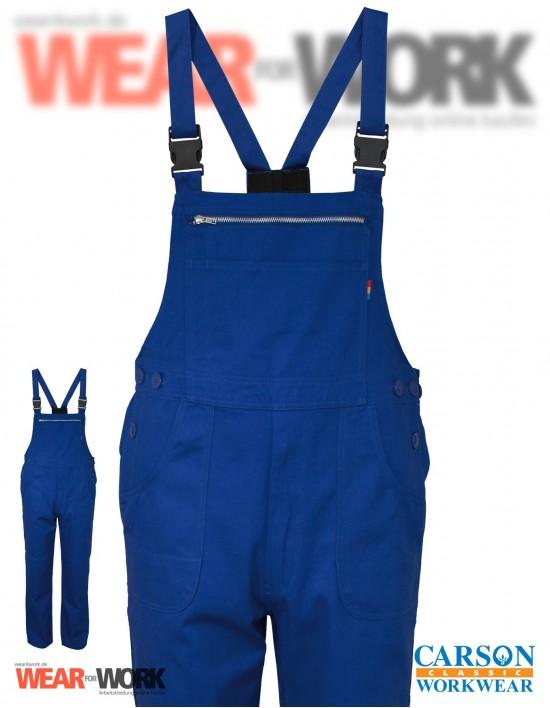 Latzhose blau KTH726 royal bei wear4work.de
