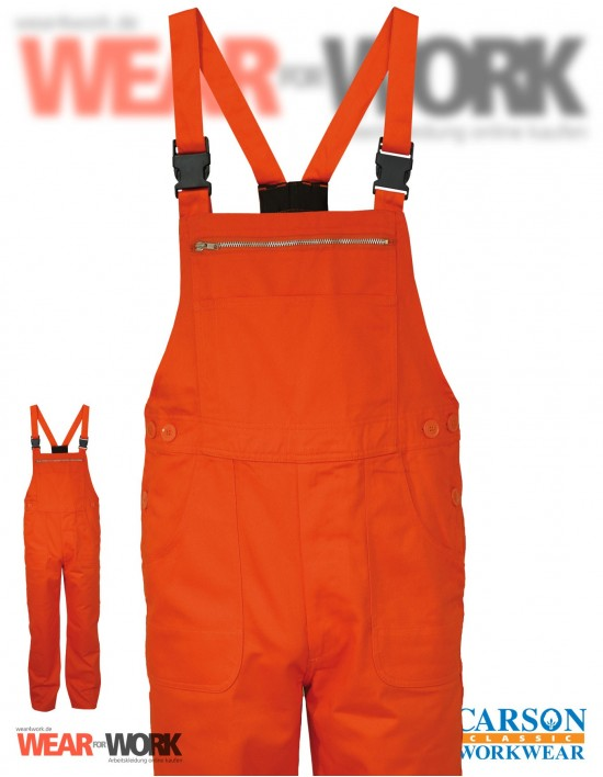 Latzhose orange KTH726 bei wear4work.de