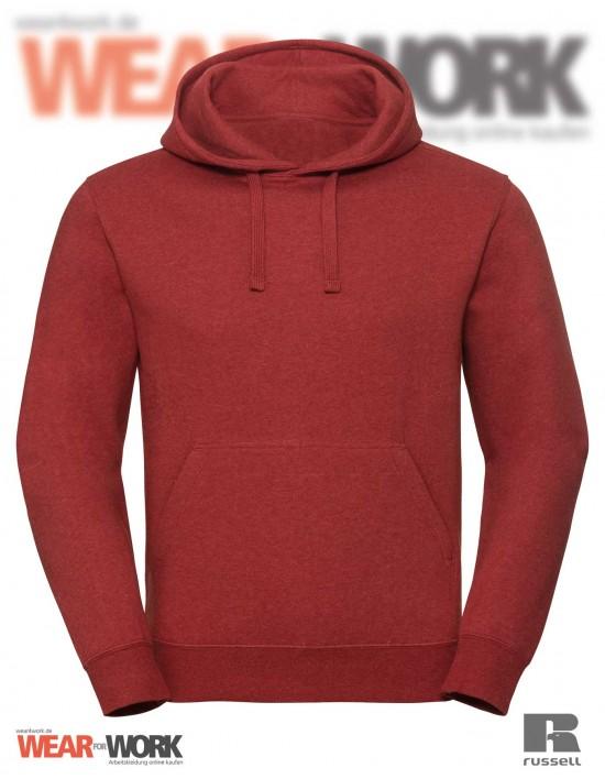 Melange Hoodie R-261M rot