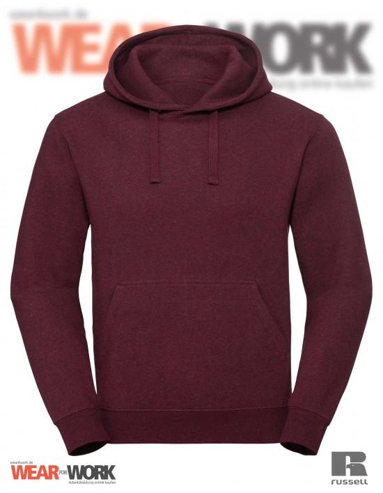 Melange Hoodie R-261M burgund bei wear4work.de