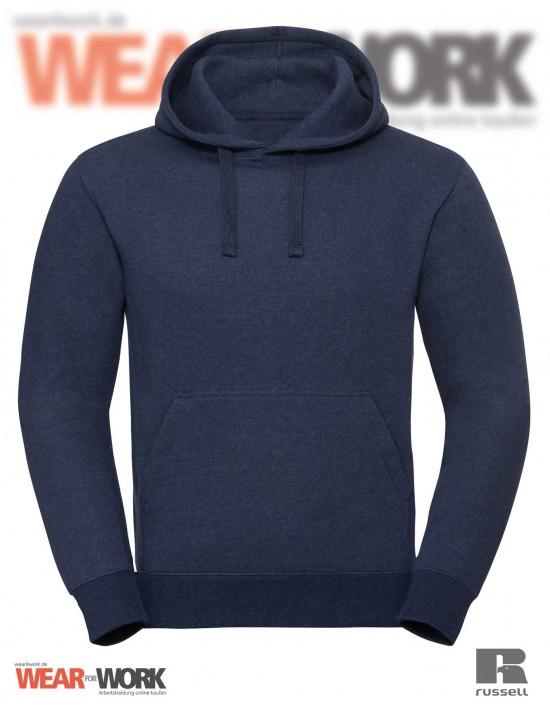 Melange Hoodie R-261M indigo