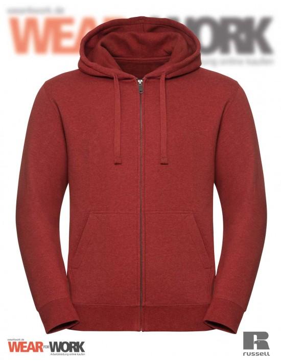 Melange Hoodie Jacket R-263M rot