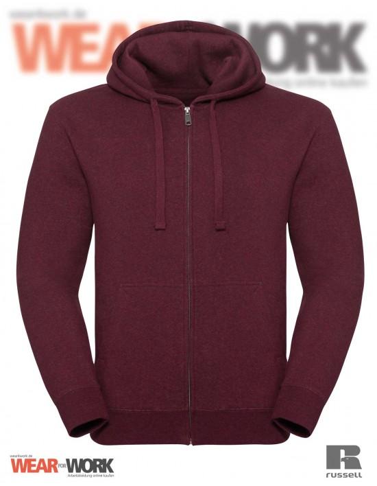 Melange Hoodie Jacket R-263M burgund bei wear4work.de