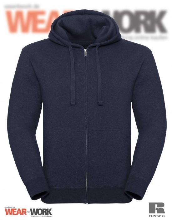 Melange Hoodie Jacket R-263M indigo
