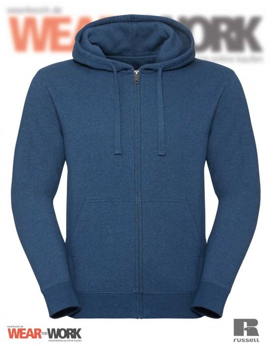 Melange Hoodie Jacket R-263M blau