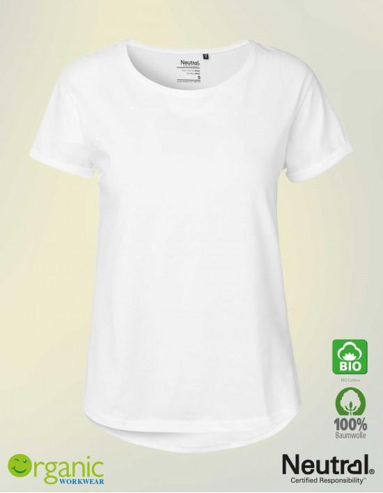 Bio Roll-up T-Shirt für Damen