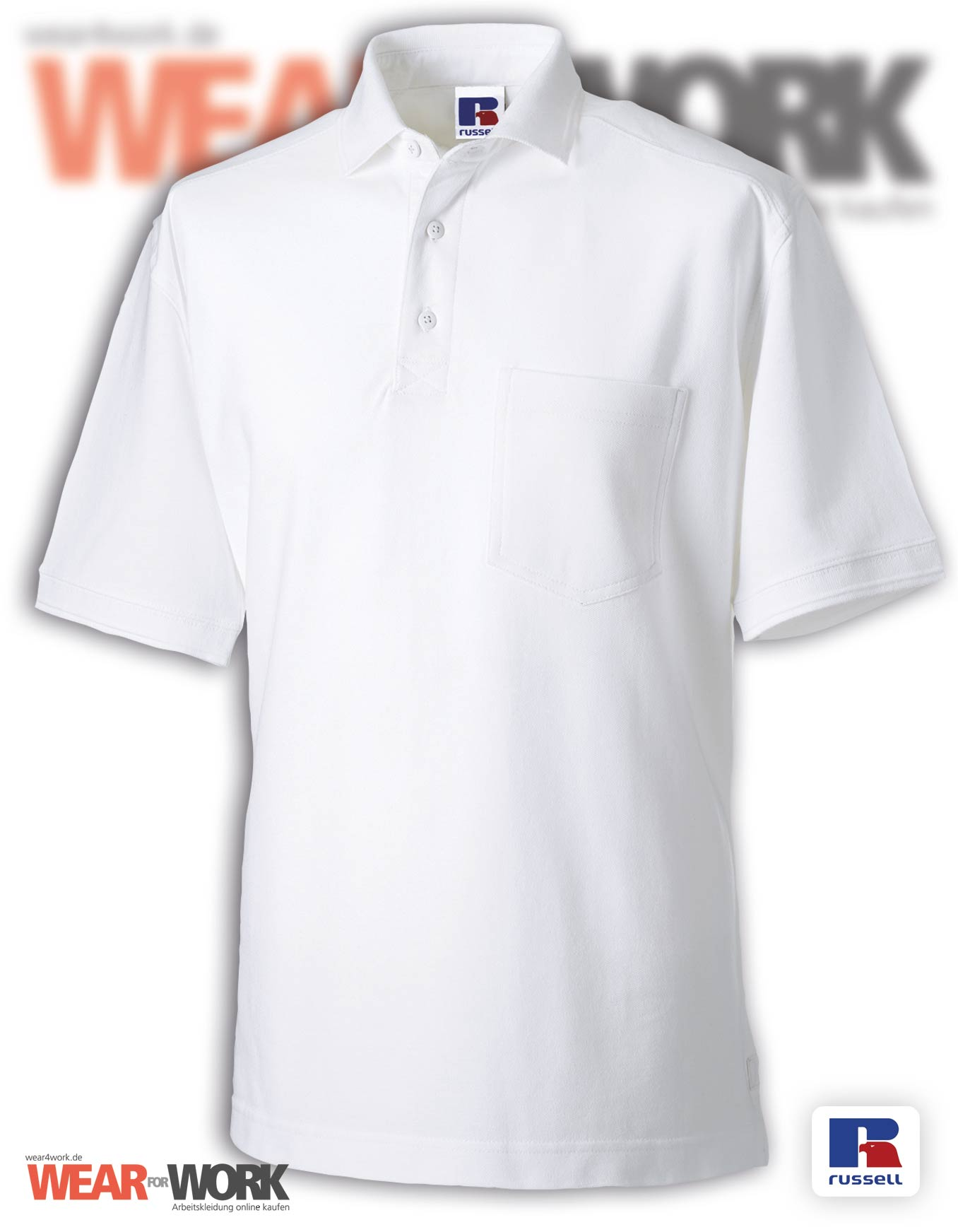 Workwear Polo weiss Herren R-011M
